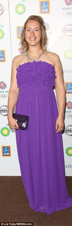 Dressed to impress: Skeleton raceLizzy Yarnold looked pretty in purple, while rower Anna ...