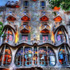 Casa Batlló in Barcelona, Cataluña
