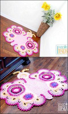 DIY Crochet Table/Floor Mat Crochet Pattern Design