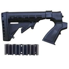 I just bought this and love it. Global Sportsman Mossberg 500 / 535 / 590 / 835 12 Gauge Shotgun Stock Buttstock + Recoil Butt Pad + Swivel Stud . you can see what others said about it here http://bridgerguide.com/global-sportsman-mossberg-500-535-590-835-12-gauge-shotgun-stock-buttstock-recoil-butt-pad-swivel-stud/