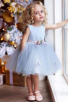 "The dress is ""made-to-order"". Need to alter contact us confirm or use our fully … The dress is ""made-to-order"". Need to alter contact us confirm or use our fully …,Blumenkinder The dress is ""made-to-order"". Cute Flower Girl Dresses, Girls Blue Dress, Tulle Flower Girl, Little Girl Dresses, Simple Dresses, Girls Dresses, Flower Belt, Baby Flower, Tulle Flowers"