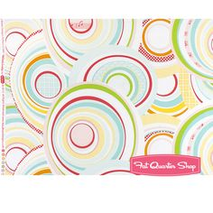 Simply Sweet White Rainbow Circles Yardage SKU# C3461-WHITE