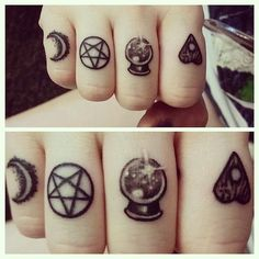 Witchcraft finger tattoos #TattooModels #tattoo