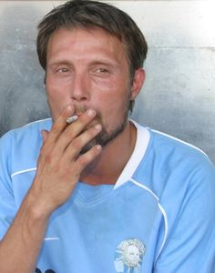 """Mads Mikkelsen - Football ShowStars while filming """"Adam's Apples"""""""