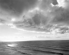 Robert Adams, West from the Columbia Gelatin Silver Print, Monochrome Photography, Columbia, Clouds, Black And White, Gallery, Outdoor, Outdoors, Black N White