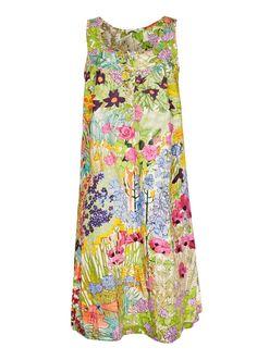Anna's Garden Liberty fabric dress. Pretty!!