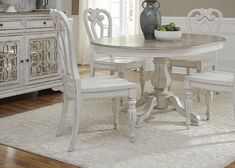 Magnolia Manor Antique White Splat Back Side ChairMedia Image #homefurnishings