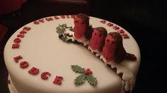Robin xmas cake
