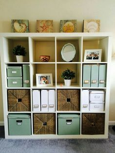 Cube Storage Ideas Cube Storage Decorating Ideas Home Office White Ikea Kallax Expedit Bookcase White And Green Ikea Kassett Boxes Wire Cube Storage Ideas Home Office Storage, Home Office Organization, Home Office Design, Home Office Decor, Organization Ideas, Office Ideas, Office Shelving, Desk Ideas, Office Setup