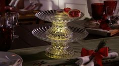 Wow your guests with this illuminated 2- Tier Server.  H203875 http://qvc.co/-Shop-ValerieParrHill