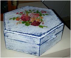 Ahşap kutu boyama ve peçete dekupaj