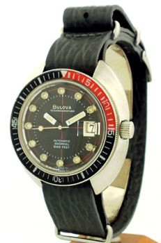 04327f7c0aa Second Time Around Vintage Watch  1970 s Men s Vintage BULOVA Oceanographer  Snorkel 666 Feet Stainless Steel. Relógios ...