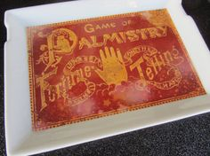 Palmistry Fortune Telling Decorative Tray by HotTaTasFaktory