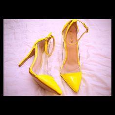 Lolashoetique Heels -KAI Neon yellow heels that have never been worn Shoes Heels