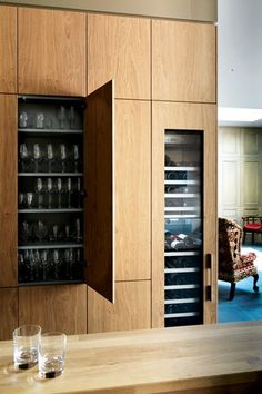 Bulthaup, Sawn Oak Panelling, Wine Fridge - Kitchen Design Ideas (houseandgarden.co.uk) http://www.kitchenarchitecture.co.uk/