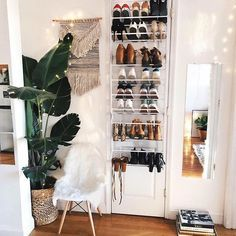 Stepping up my shoe game & giving them some love ☺️✨ #love #interior #uohome #nyc