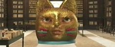 Meet Laser Cat, The Giant Art-Eating Cat That Shoots Lasers Out Of Its Eyes