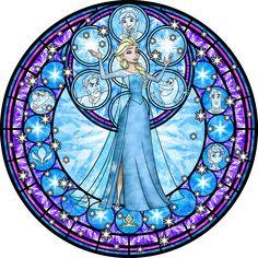 Elsa Stained Glass Vector by Akili-Amethyst.deviantart.com on @deviantART