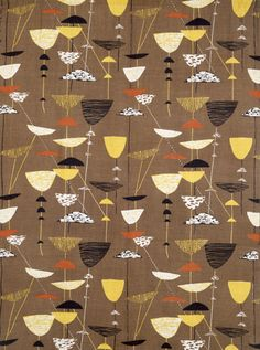 Calyx, furnishing fabric, by Lucienne Day -- High quality art prints, framed prints, canvases -- V Prints