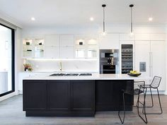One of the newest additions to our ever expanding color palette, we're seeing more and more use of the stunning Statuario Maximus. Here, @freedom_kitchens uses it on both the #countertop and the #backsplash for a real statement! #modernkitchen #kitcheninterior