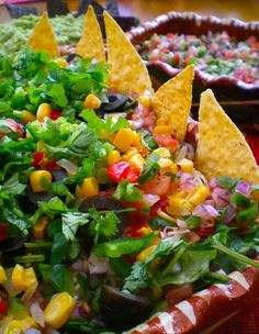 8 Layer Fiesta Dip. For more information about our luxurious rental villas in Puerto Vallarta, Mexico visit our website www.villavacationspv.com or give us a call 443 786 7220
