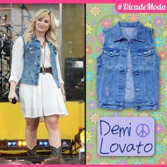 O Jeans nunca sai de moda! Invista no colete como uma peça coringa para trabalhar nas suas produções. Não fica lindo e estiloso, meninas?!