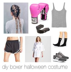 diy boxer costume by reesiew on Polyvore featuring Everlast, NIKE, Shock Doctor and adidas