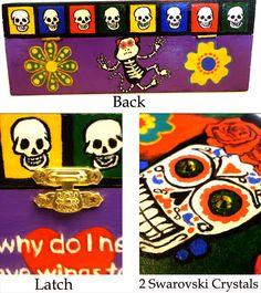 Beautiful Custom Painted Frida Kahlo Dia De Los Muertos Katrina  Jewelry Box Day of The Dead jewelry