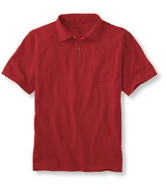 #LLBean: Carefree Unshrinkable Polo, Traditional Fit with Pocket