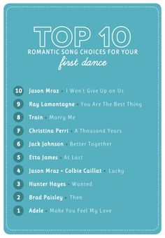Popular Wedding First Dance Songs photo | The Budget Savvy Bride