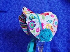 Infant Baby Bonnet Paisley Flowers Dogs Colorful Baby Bonnet by AdorableandCute on Etsy