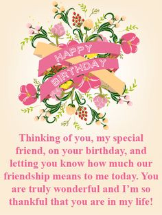 Are you looking for inspiration for happy birthday friendship? Are you looking for inspiration for happy birthday friendship?Browse around this site for perfect happy birthday ideas. Happy Birthday Special Friend, Happy Birthday Ecard, Happy Birthday Wishes Cards, Birthday Wishes For Friend, Birthday Blessings, Happy Birthday Images, Birthday Greeting Cards, Birthday Message For Friend Friendship, Happy Birthday Typography