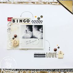 I am IN LOVE with this layout from Prima using the Engraver collection,  how beautiful! Simple, graphic, lovely! jann