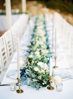Pastel Blue & Green Destination Wedding at Corfu Luxury Villas, Planned by Rosmarin Weddings & Events Corfu Wedding, Santorini Wedding, Greece Wedding, Destination Wedding, Backyard Wedding Pool, Pastel Blue Wedding, Beach Centerpieces, Island Weddings, Wedding Decorations