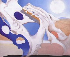 Art History Timelines: View Artwork: Georgia O'Keefe, Pelvis With Shadows and the Moon Georgia O'keeffe, Wisconsin, Georgia O Keeffe Paintings, New York Art, Abstract Painters, Alfred Stieglitz, Art Institute Of Chicago, Moon Art, Community Art
