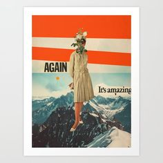Again, It's Amazing Mini Art Print by Frank Moth - Without Stand - x Canvas Prints, Art Prints, Diy Frame, Folded Cards, High Quality Images, Vintage Outfits, Vintage Clothing, Album Covers, Amazing Art