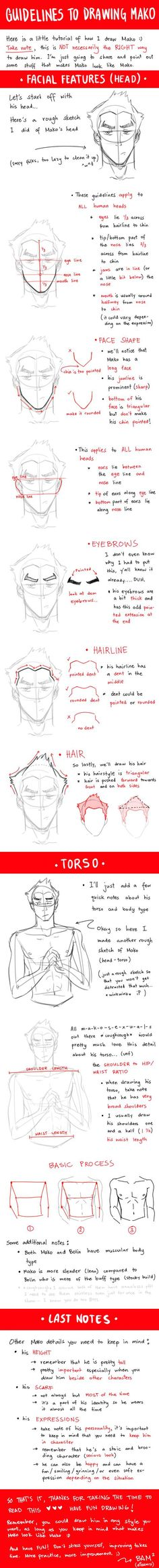 how to draw Mako (or drawing guy tips in general)
