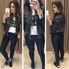 camo isn't just for country girls Teen Fashion, Fashion Outfits, Womens Fashion, Casual Chic, Trendy Outfits, Fall Outfits, Jean Outfits, Weekend Outfit, Concert Outfit Fall