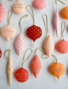 Heirloom Wool Ornaments Pattern