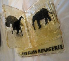 Edible book! The Glass Menagerie by Chris Fritton and Amy Hartman - presented at WNYBAC's Edible Book Festival