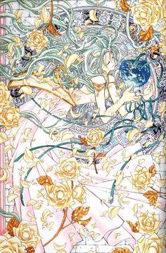 Arina Tanemura Collection image by Arina Tanemura Manga Anime, Old Anime, Anime Art, Shinshi Doumei Cross, Japanese Art Modern, Kitsch, Manga Artist, Manga Illustration, Illustrations