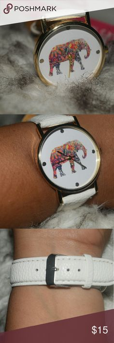 Summer ready Trend Colorful elephant Gold tone watch. Perfect for summer time. Look at the pictures for better description. Any questions let me know. Hit me a reasonable offer. XNO TRADESX FOLLOW ME ON IG @lilian.barillas Be a trendsetter lilianbarillas Accessories Watches