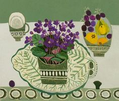 stilllifequickheart:    Vanessa Bowman  Purple African Violets  2011