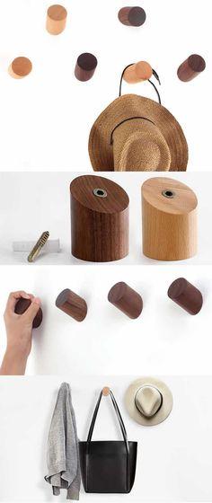 Schools For Woodworking - Woodworking Finest Woodworking Courses, Woodworking School, Learn Woodworking, Wooden Wall Hooks, Wooden Walls, Wooden Handles, Modern Coat Hooks, Shelving Design, Diy Home Crafts