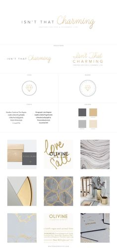 Isn't That Charming Blog Design, logo design, wordpress theme, mood board inspiration, blog design idea, graphic design, branding, style blog, fashion, food blog design, food blog logo, style blog logo, gold white branding, gold and grey branding