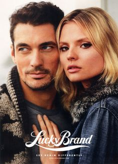 Magdalena Frackowiak and David Gandy star in the #Lucky #Brand Fall. Get #Lucky @designerstudiostore.com: http://www.designerstudiostore.com/brands-off/lucky-brand.html