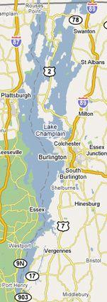 Lake Champlain map