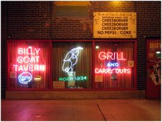 Billy Goat Tavern. Beer and burgers.