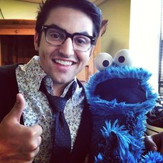 Mitch Grassi and Cookie Monster