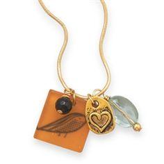 Love Bird Charm Necklace  pinned by #SoCoVintage SoCoVintage.com